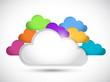 color clouds illustration design