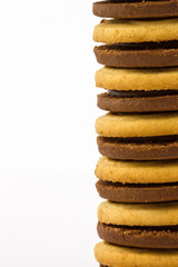 Biscuit on white background.