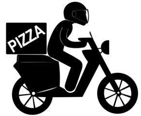 pizza express sur scooter