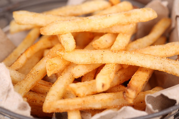 Tasty french fries, close up