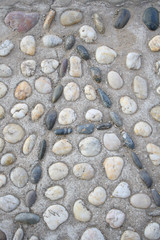 Pebbles made ​​of letters