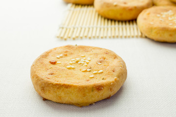 Cheese biscuits, mini pizza