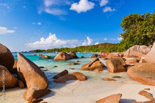 canvas print picture Beach Anse Lazio - Seychelles