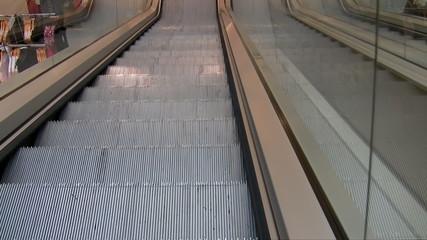 Department store escalator
