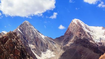 Mountain pass Chimtarga. (4740 m.) TimeLapse. Fans, Tajikistan.