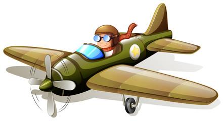 A vintage plane with a pilot