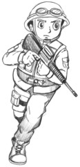 A sketch of a soldier