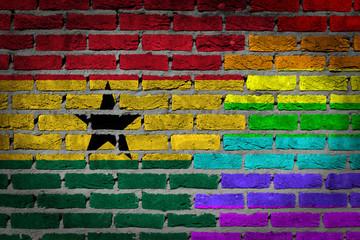 Dark brick wall - LGBT rights - Ghana