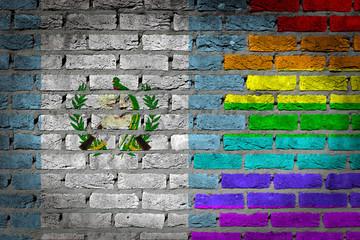 Dark brick wall - LGBT rights - Guatemala