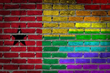 Dark brick wall - LGBT rights - Guinea Bissau