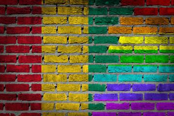 Dark brick wall - LGBT rights - Guinea