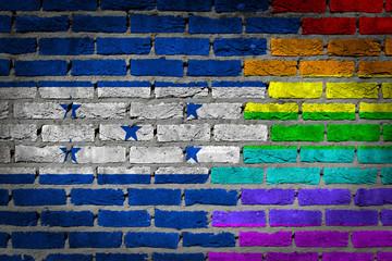 Dark brick wall - LGBT rights - Honduras