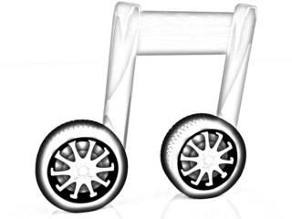 note is car-wheel