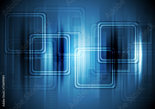 Abstract hi-tech background with squares
