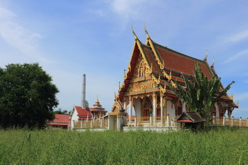 temple at Wat Khumkaeo, Uthai, Ayutthaya