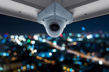 CCTV and night city scene