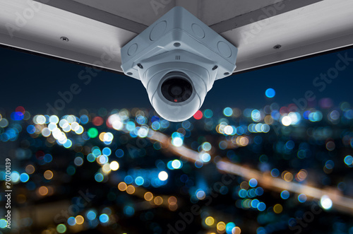 CCTV and night city scene - 70700139