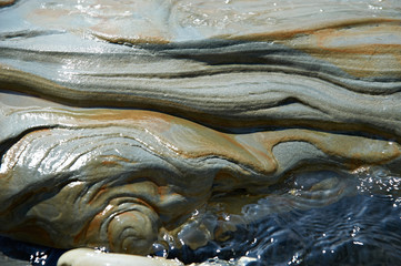 Beautiful surface of a stone in the water