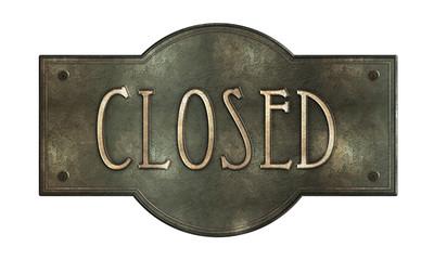 Closed Metallplatte G