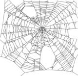 square old black spider web illustration