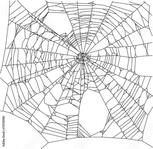 square old black spider web illustration - 70700981