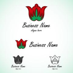 Letter M Blossom Logo