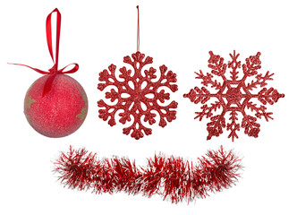 red christmas tree decorations collection