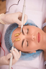Procedure of professional cosmetology skin care with