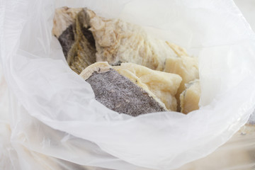 dry salted codfish in bag