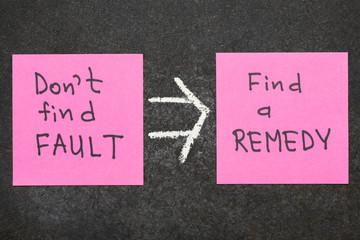 find a remedy