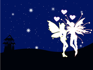 Fairy Butterflyman  of the night love
