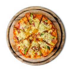 Pizza isolated on white background with clipping path.