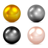 Fototapety Set of spheres