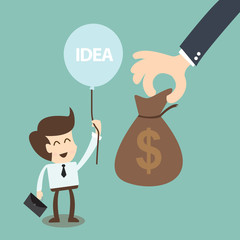 crowdfunding and  investors concept