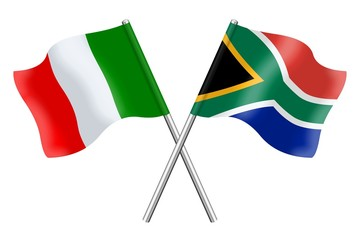 Flags: Italy and South Africa