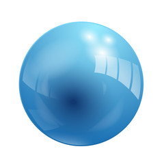 Shiny Blue Vector Ball (button icon symbol)