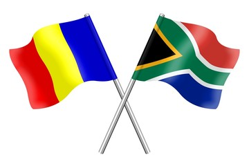 Flags: Romania and South Africa