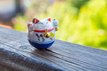 Lucky Cat in blue color