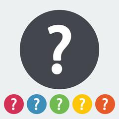 Question mark single icon.