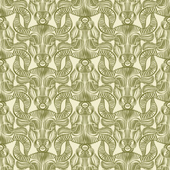 Repaint seamless pattern: bull's head
