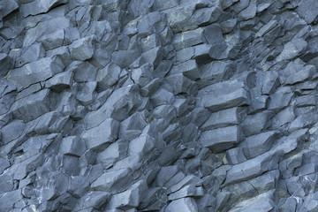 Hanging basalt columns as background