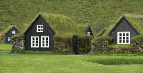 Traditional icelandic houses
