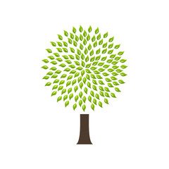 Modern infographic template. Light bulb with Green tree