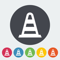 Road Cone single icon.