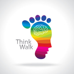 Think walk concept, vector