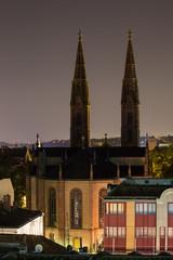 St. Bonifatius church in wiesbaden at night