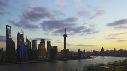 Timelapse video of China Shanghai, from day to night