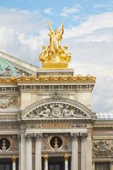 The Opera Garnier golden statue in Paris
