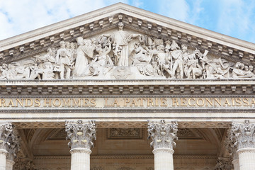 Pantheon facade in Paris
