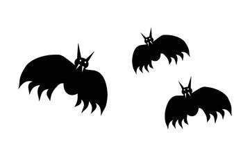 Fledermäuse an Halloween Vektor